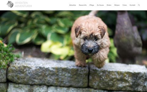 Screenshot of Home Page wheaten-adventurer.de - Wheaten-Adventurer - captured June 27, 2018