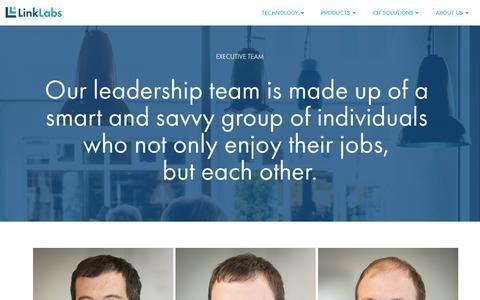 Screenshot of Team Page link-labs.com - Executive Team - Link Labs - captured Dec. 10, 2015