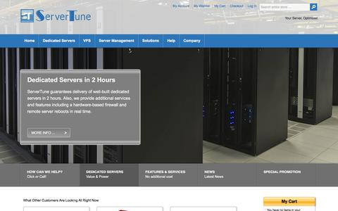 Screenshot of Home Page Privacy Page servertune.com - ServerTune |  Dedicated Servers and Hybrid VPS - captured Nov. 12, 2017