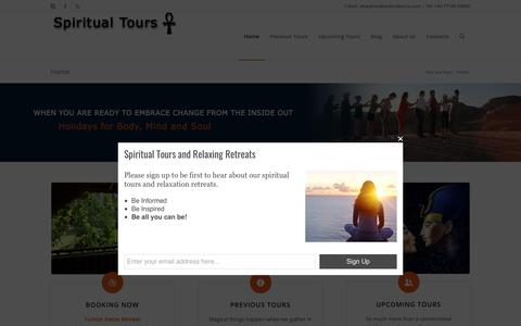 Screenshot of Home Page spiritual-tours.co.uk - Spiritual Tours | Spiritual Tours with Vicki Rebecca - captured Nov. 23, 2018