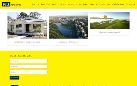 Screenshot of Blog bellrealestate.com.au - Bell Real Estate - captured July 1, 2018