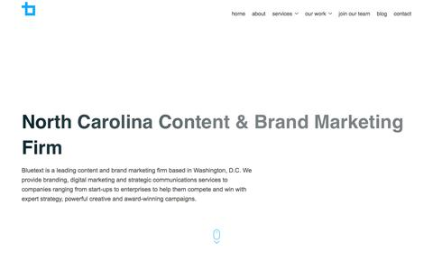 North Carolina Content & Brand Marketing Firm | Bluetext