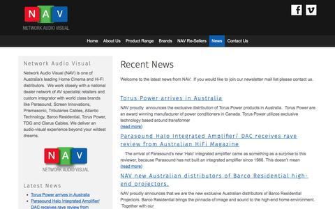 Screenshot of Press Page networkav.com.au - News - Network Audio Visual - captured Nov. 29, 2016