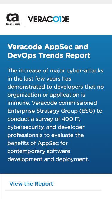AppSec and DevOps Trends Report   Veracode