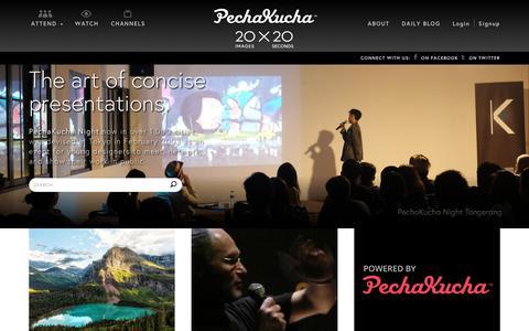 Screenshot of Home Page pechakucha.org - PechaKucha 20x20 - captured July 16, 2018