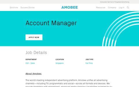 Screenshot of Jobs Page amobee.com - Account Manager — Amobee - captured Nov. 18, 2019