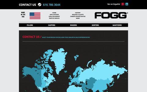 Screenshot of Contact Page foggfiller.com captured Oct. 29, 2014
