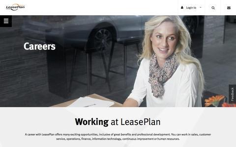 Screenshot of Jobs Page leaseplan.com.au - Careers | LeasePlan - captured Nov. 1, 2016