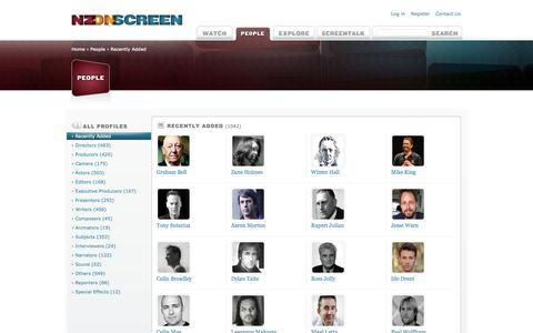 Screenshot of Team Page nzonscreen.com - People - Recently Added | NZ On Screen - captured Sept. 23, 2014