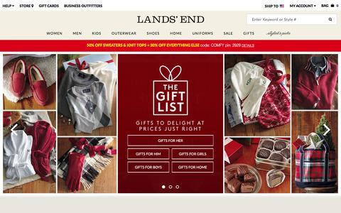 Screenshot of Home Page landsend.com - Lands' End | Coats, Sweaters, Dresses, Gifts & More - captured Nov. 29, 2015
