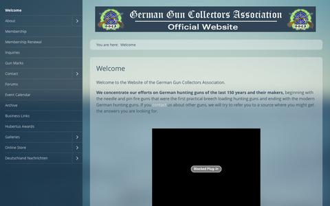 Screenshot of Home Page germanguns.com - Welcome to the German Gun Collectors Association Website for Firearm History - captured June 24, 2016