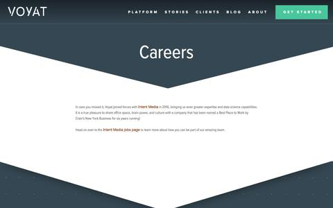 Careers | Voyat | More direct bookings with dynamic, contextually relevant messaging