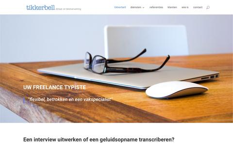 Screenshot of Home Page tikkerbell.nl - interview uitwerken - tikkerbell - captured Aug. 16, 2015