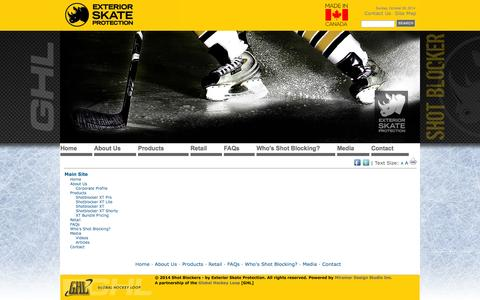 Screenshot of Site Map Page shotblockers.com - Shot Blockers - by Exterior Skate Protection - f_PageDataRetrieved.pageData.PageName - captured Oct. 26, 2014