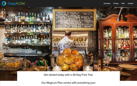 Screenshot of Pricing Page chanj.com - Chanj FLOW - Bar & Liquor Inventory App - captured Sept. 25, 2018