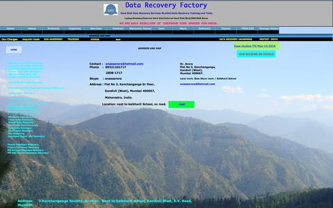 Screenshot of Maps & Directions Page datarecoveryfactory.com - contact us A1 Salvation Data Recovery Services - captured Nov. 19, 2016