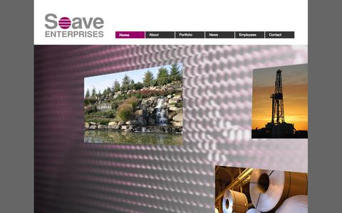Screenshot of Home Page soave.com - Soave Enterprises | Soave | Anthony Soave | Tony SoaveSoave Enterprises - captured Oct. 2, 2014