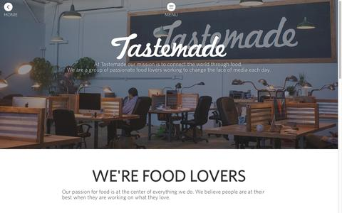 Screenshot of Jobs Page tastemade.com - Tastemade - captured Sept. 11, 2014