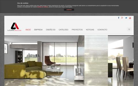 Screenshot of Home Page azulejoslatorre.com - La Torre Azulejos S.L.  |  Materiales de construcción y decoración - captured Feb. 6, 2016