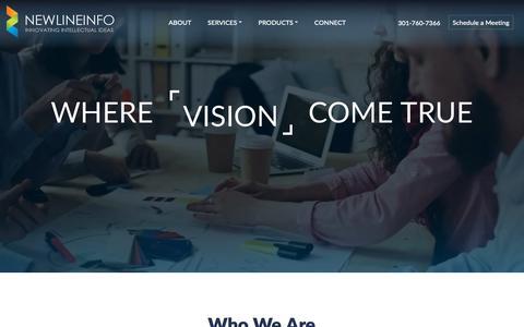 Screenshot of Home Page newlineinfo.com - Software Development Consulting Dallas TX | NEWLINEINFO CORP - captured Nov. 15, 2018