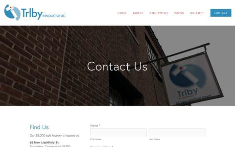 Screenshot of Contact Page trlby.com - Contact — Trlby Innovative, LLC. - captured Nov. 13, 2017