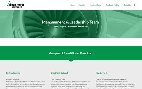 Screenshot of Team Page blackforestventures.com - Management & Leadership Team | Black Forest Ventures - captured Aug. 2, 2018