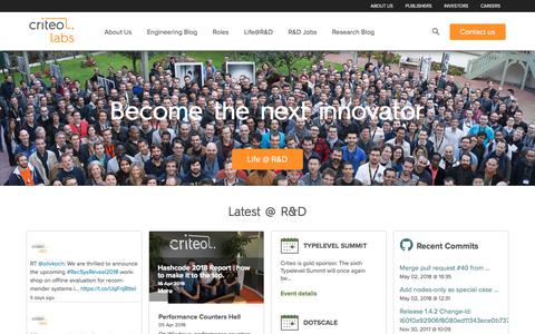 Home - Criteo Labs
