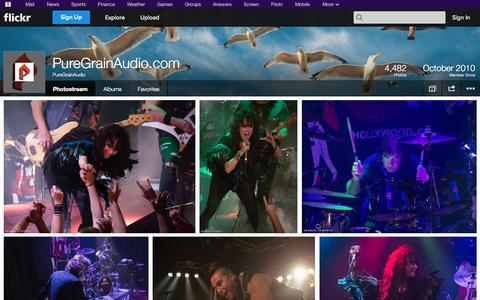 Screenshot of Flickr Page flickr.com - Flickr: PureGrainAudio's Photostream - captured Oct. 22, 2014