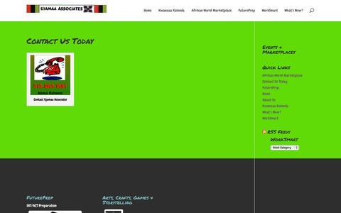 Screenshot of Contact Page ujamaaassociates.com - Contact Us Today | Ujamaa Associates - captured Oct. 29, 2014