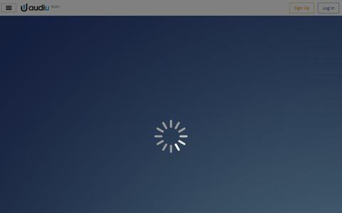 Screenshot of Login Page audiu.net - Audiu - captured Oct. 29, 2014