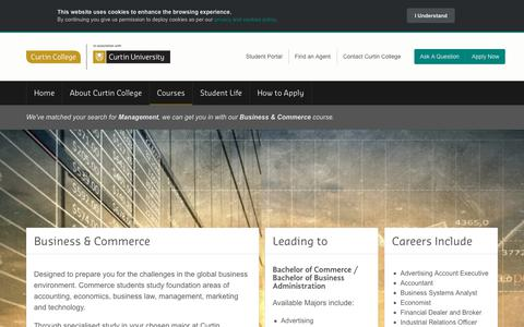 Screenshot of Team Page curtincollege.edu.au - Business & Commerce - Curtin College - captured Sept. 30, 2018