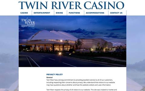 Screenshot of Terms Page twinriver.com - Terms of Use - Twin River Casino - captured Oct. 6, 2014