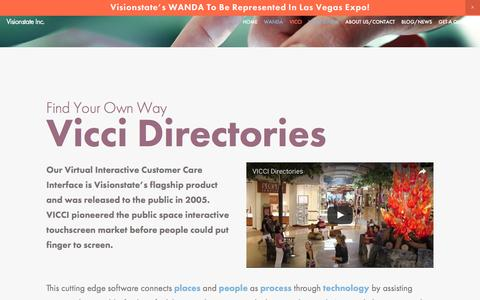 Screenshot of Team Page visionstate.com - WANDA: the future of public space managementVICCI Connects — Visionstate Inc. - captured Dec. 15, 2016