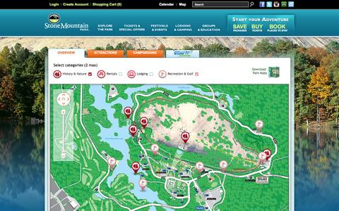 Screenshot of Maps & Directions Page stonemountainpark.com - Stone Mountain Park - Interactive Park Map - captured Sept. 23, 2014