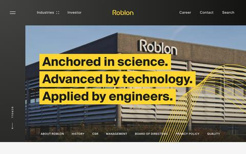 Screenshot of About Page roblon.com - About - captured Dec. 21, 2018