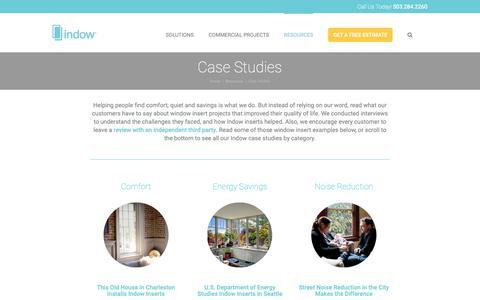 Screenshot of Case Studies Page indowwindows.com - Window Insert Case Studies and Examples   Indow - captured Nov. 4, 2018