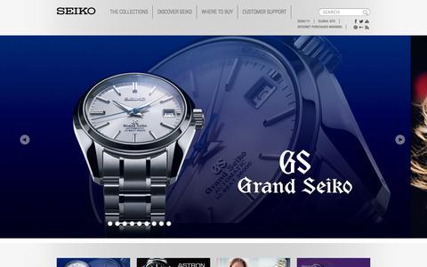 Screenshot of Home Page seiko.co.uk - Homepage | Seiko - captured Sept. 19, 2014