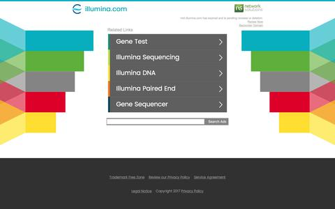 Screenshot of Landing Page illumina.com - illumina.com - captured July 25, 2017