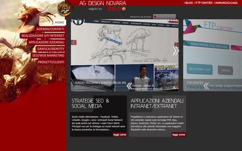 Screenshot of Home Page ag-design.it - ag design novara | Realizzazione e creazione siti internet| Agenzie web - captured Feb. 5, 2016