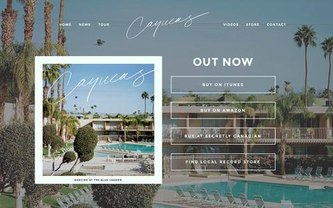 Screenshot of Home Page cayucas.com - Cayucas - captured Sept. 25, 2015