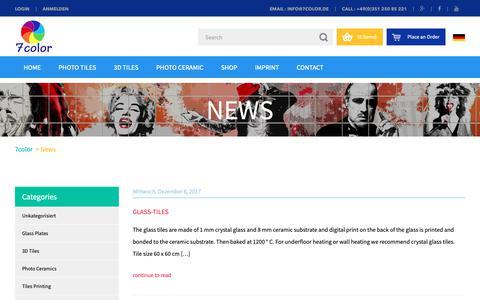 Screenshot of Press Page 7color.eu - News | 7color - captured Nov. 6, 2018
