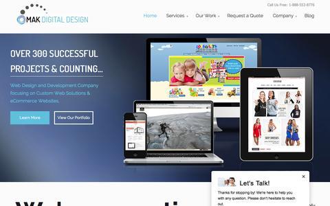 Screenshot of Home Page makdigitaldesign.com - Volusion Web Design   Bigcommerce Store Development and Marketing   Magento eCommerce Digital Marketing and Seo - captured Sept. 10, 2015