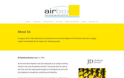 Screenshot of About Page airboxsp.com - Airbox About Us - Airbox - captured Oct. 3, 2018