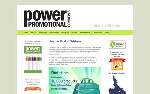 Screenshot of Pricing Page powerpromo.ns.ca - Power Promotional Concepts - Promotional Products in Dartmouth, Nova Scotia - Pricing - captured Oct. 2, 2014