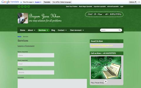 Screenshot of Services Page onlineproblemsolution.com - Services | Vashikaran Specialist | Vashikaran Mantra | Black Magic Specialist | Get your love back | Black Magic Spells | love marriage | love Spells - captured Nov. 5, 2014