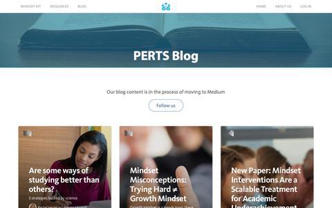 Screenshot of Blog perts.net - PERTS | Blog - captured Jan. 22, 2016