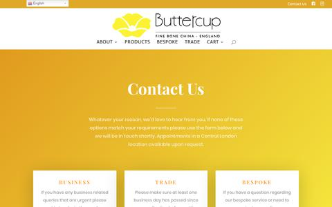 Screenshot of Contact Page buttercupchina.co.uk - Contact | Buttercup - captured Aug. 4, 2018