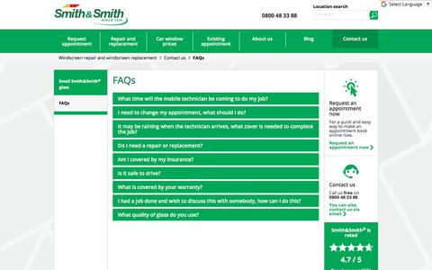 Screenshot of FAQ Page smithandsmith.co.nz - FAQs: Smith&Smith® - captured July 1, 2018