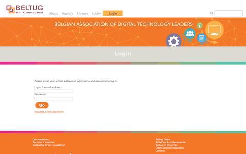 Screenshot of Login Page beltug.be - Login - Beltug - captured Oct. 9, 2017