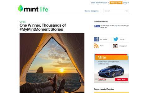Screenshot of Blog mint.com - MintLife Blog | Personal Finance News & Advice - captured Feb. 6, 2016